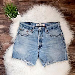 Vintage Levi's cut off jean shorts